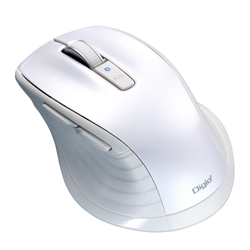 f line bluetooth静音5ボタンblueledマウス mサイズ ホワイト