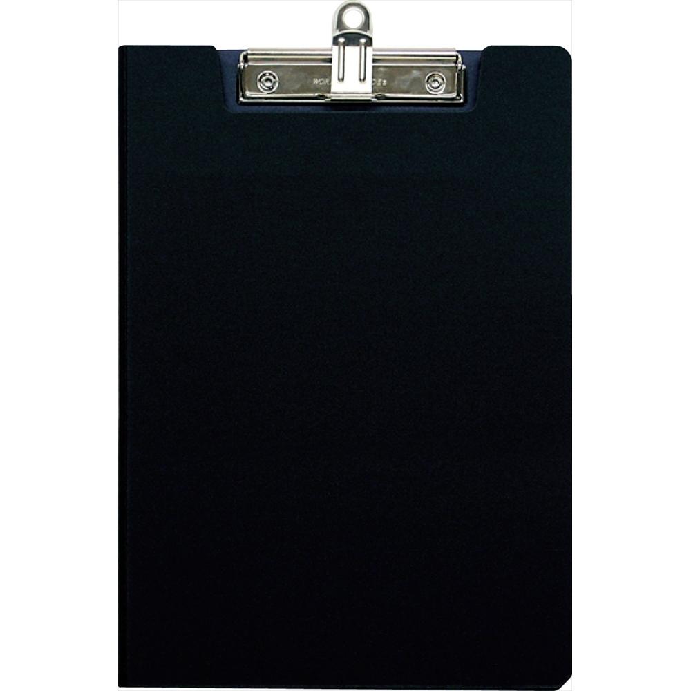 クリップボード 楽ぱっちん 発泡pp製 カバータイプ a4 e型 ブラック