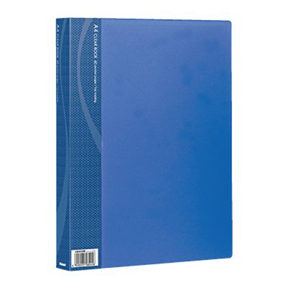 CB1034B-N                クリアブック/ベーシックカラー A4判 60P ブルー